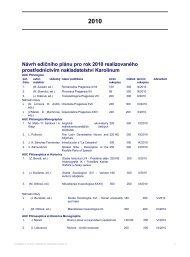 Návrh edičního plánu pro rok 2010 realizovaného prostřednictvím ...