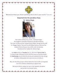 Departed into the paradise of joy Dr. Sylvia Girgis - Saint Mary ...