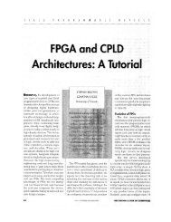 FPGA a:nd CPLD Architectures: A Tutorial - IEEE Design & Test of ...