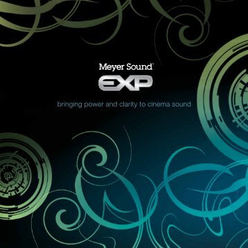 EXP Brochure - Meyer Sound Laboratories Inc.