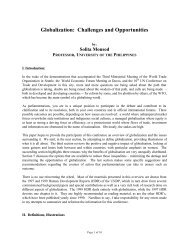 Globalization: Challenges and Opportunities - CAPWIP