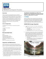 SAFETY IRON MAINTENANCE - FRONT - Weir Oil & Gas Division