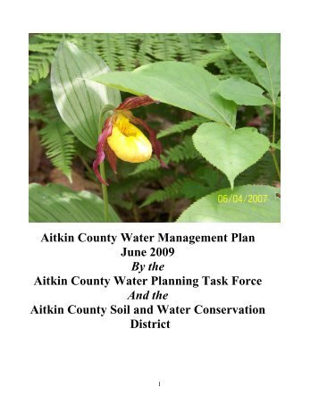 Water Plan - Aitkin County Soil & Water