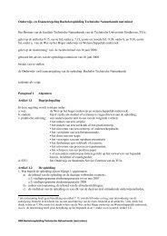 Onderwijs - Eindhoven University of Technology - Technische ...