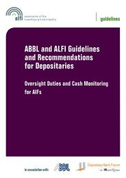 ABBL and ALFI Guidelines and Recommendations for Depositaries
