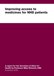 Improving access to medicines for NHS patients - The Pamela ...
