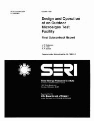 Design and Operation of an Outdoor Microalgae Test Facility ... - NREL