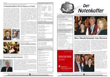 November 2011 - Blasmusikverband Schwarzwald-Baar eV