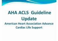 American Heart Association Advance Cardiac Life Support