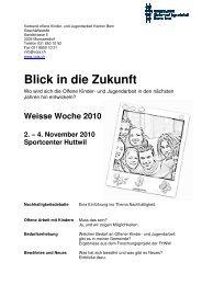 Programm Weisse Woche 2010 - VOJA