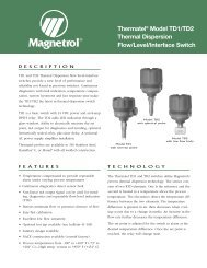 Thermatel® Model TD1/TD2 Thermal Dispersion Flow ... - Eoss.com