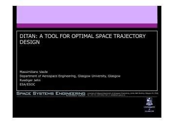 DITAN: A TOOL FOR OPTIMAL SPACE TRAJECTORY DESIGN - ESA