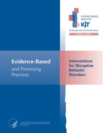 Interventions for Disruptive Behavior Disorders - SAMHSA Store ...