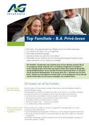 Top Familiale - B.A. Privé-leven - AG Insurance