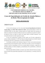 Edital - Gestão básica e de redes microregionais de saúde