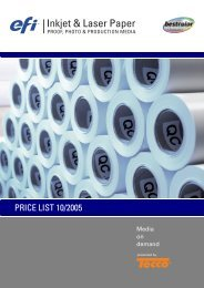 PRICE LIST 10/2005 - Tecco