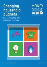 Changing household budgets