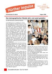 (H\374rther Impulse August 2006 1.qxd) - SPD Ortsverein Hürth