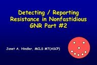 Detecting Reporting Resistance in Nonfastidious GNR - SWACM