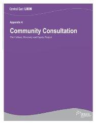 CDE Appendix 4 Community Consultation - Central East Local ...