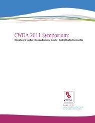 Symposium Brochure and Speaker Biographies - CWDA