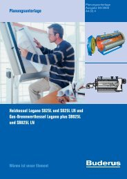 Planungsunterlage Heizkessel Logano S825L und S825L ... - Buderus