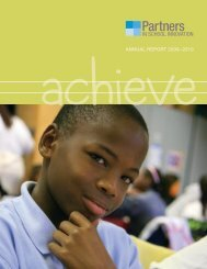 AnnuAl RepoRt 2009–2010 - Partners in School Innovation