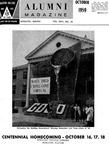 october. 1959 - eSpace - Wheaton College