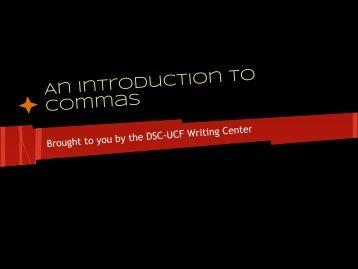 Comma Usage - Daytona State College