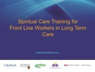 Spirituality In-service PowerPoint Slides - Quality Palliative Care in ...