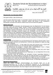 Elternbrief Nr. 6 09_10 dt - DSB | Kairo
