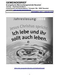 Gemeindebrief Dezember 2007 / Januar 2008