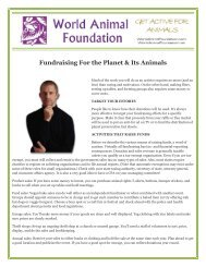 Fundraising For the Planet & Its Animals - World Animal Foundation