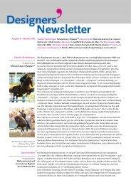 Designers' Newsletter, Ausgabe 5, Oktober 2004 - Dr. Wolfgang ...