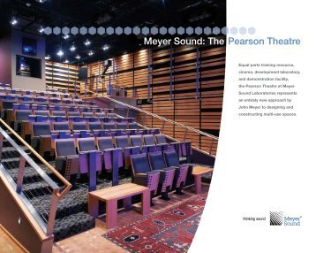 Meyer Sound: The Pearson Theatre - Meyer Sound Laboratories Inc.