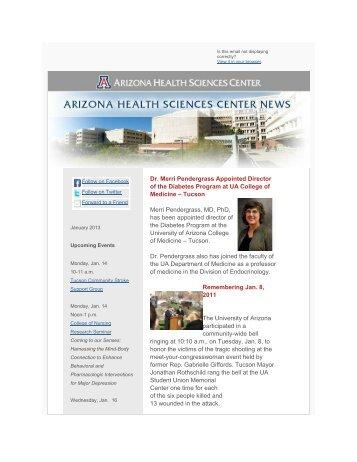 January - AHSC Office of Public Affairs - University of Arizona