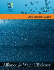 AWE 2012 Business Guide - Alliance for Water Efficiency