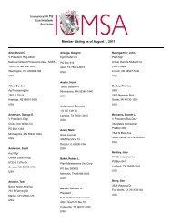Member Listing as of August 1, 2011 - International Oil Mill ...
