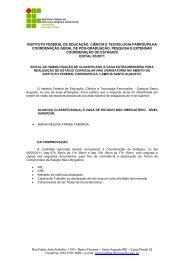 Edital 05/2011 - Seleção para Estágio - Convocação