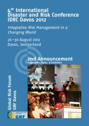 4th International Disaster and Risk Conference IDRC Davos 2012