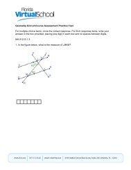 Geometry EOC Practice Test