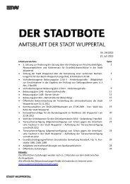 Bebauungsplan 1146 - Bekanntmachung ... - Stadt Wuppertal