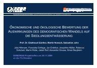 ökonomische und ökologische bewertung der ... - DEMOWAS