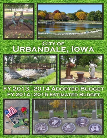 FY2013-14 Budget Document - City of Urbandale