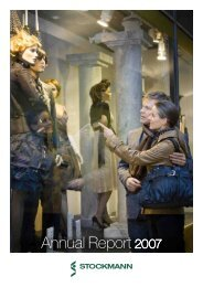 Annual Report 2007 - Stockmann Group