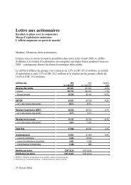 Lettre aux actionnaires Février 2004 - APG SGA