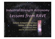 Lessons from RAVE - Physics and Astronomy
