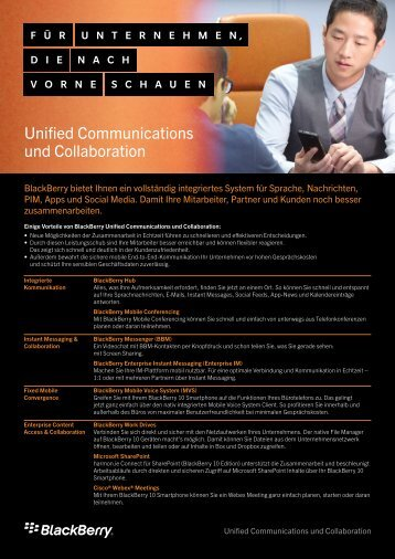 Unified Communications und Collaboration - wireless & mobile