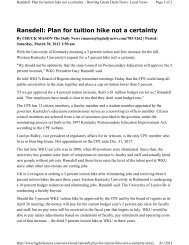 Ransdell: Plan for tuition hike not a certainty - Council on ...