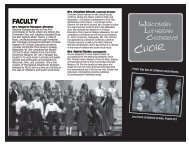 Children's CHOIR - Wisconsin Lutheran High School